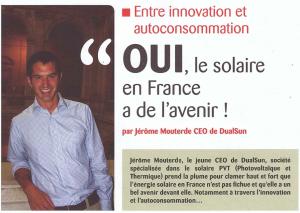 DualSun - Article Plein Soleil Juillet 2014